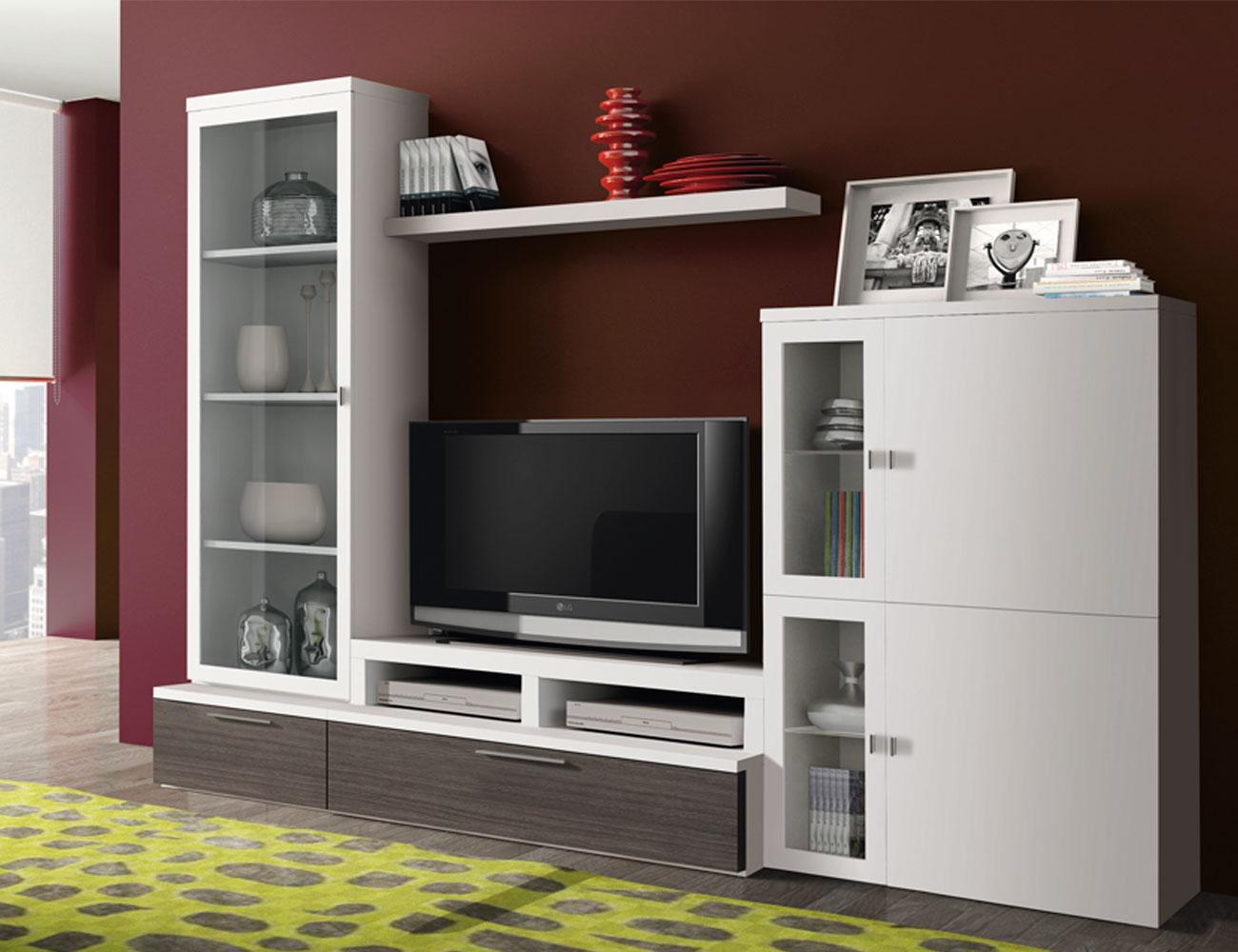 718 mueble salon comedor blanco ceniza
