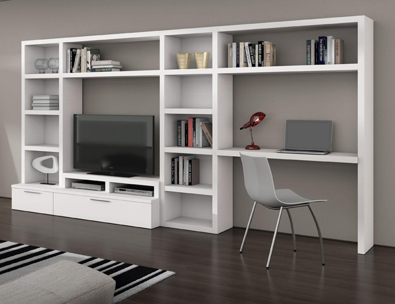 726 mueble salon comedor blanco