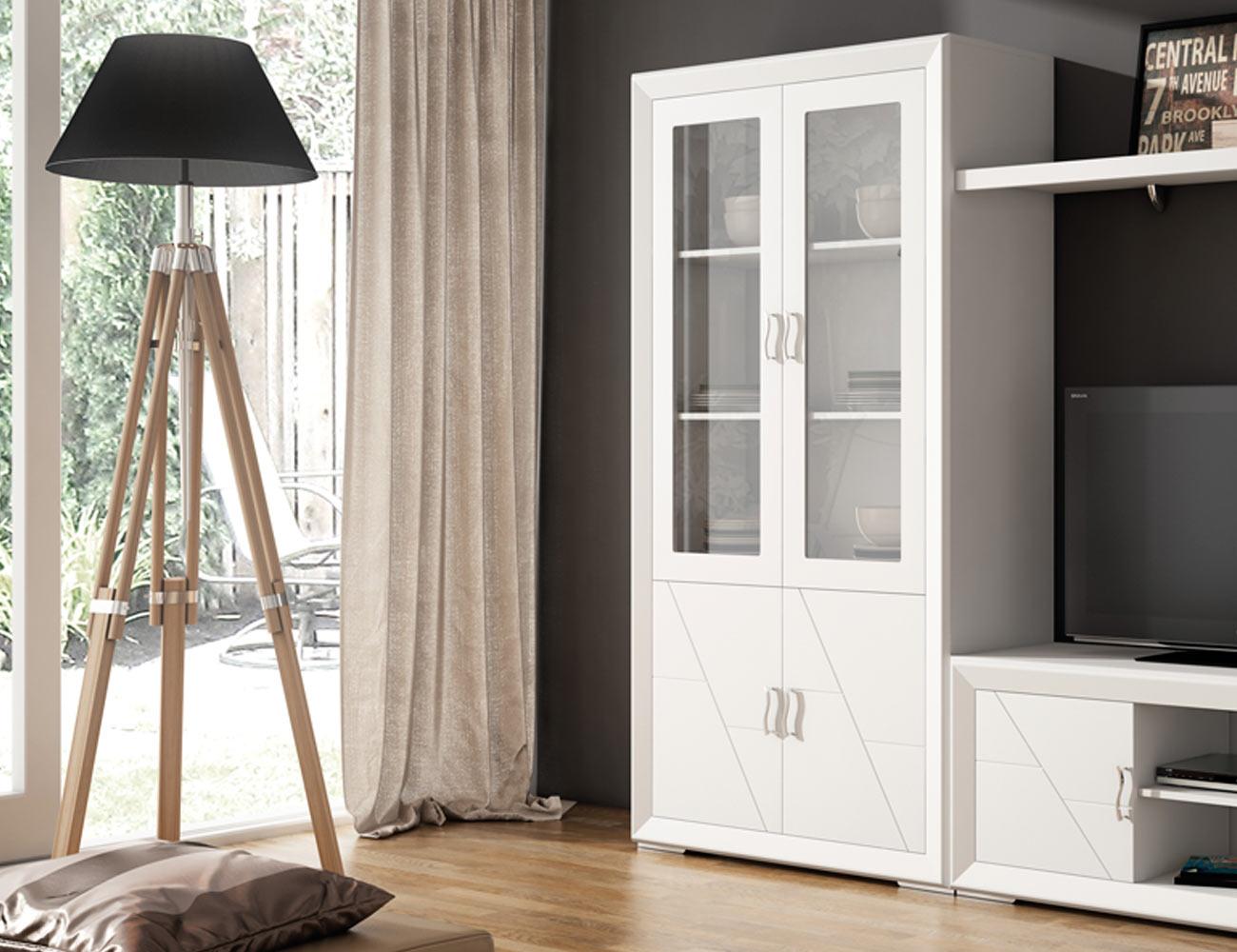 Pack de sillas en madera y tapizada color blanco lacado for Factory del mueble sevilla
