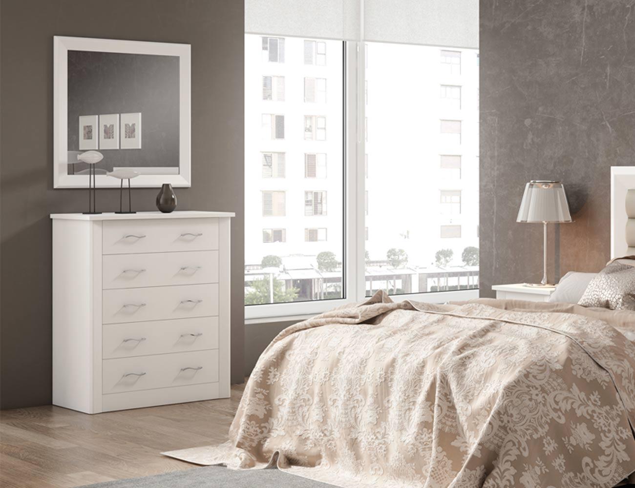 80018 marco espejo blanco lacado madera dm
