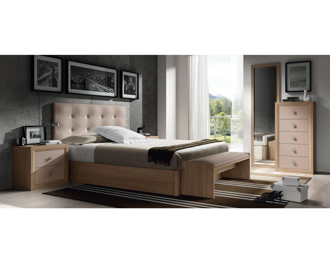 9 dormitorio matrimonio cabecero tapizado sinfonier olmo capuchino