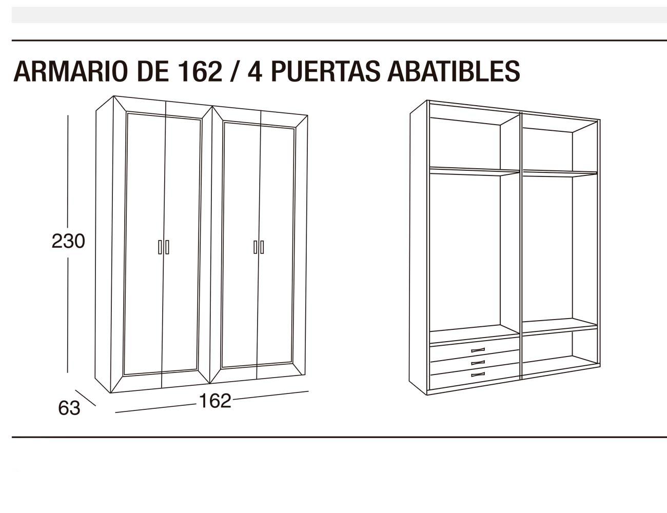 Armario 162 4p abatibles