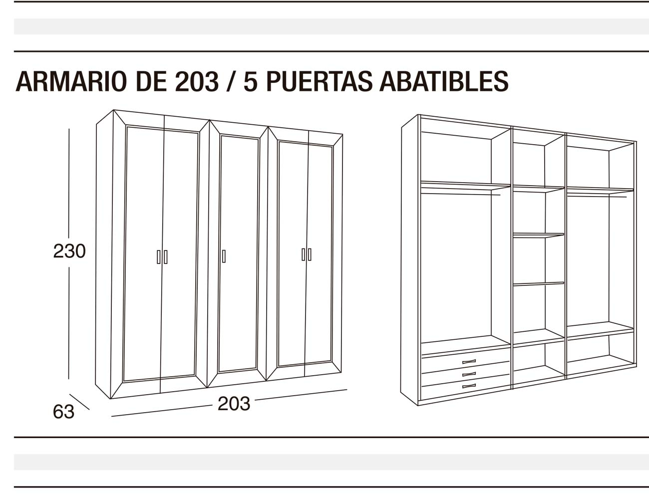 Armario 203 p abatibles