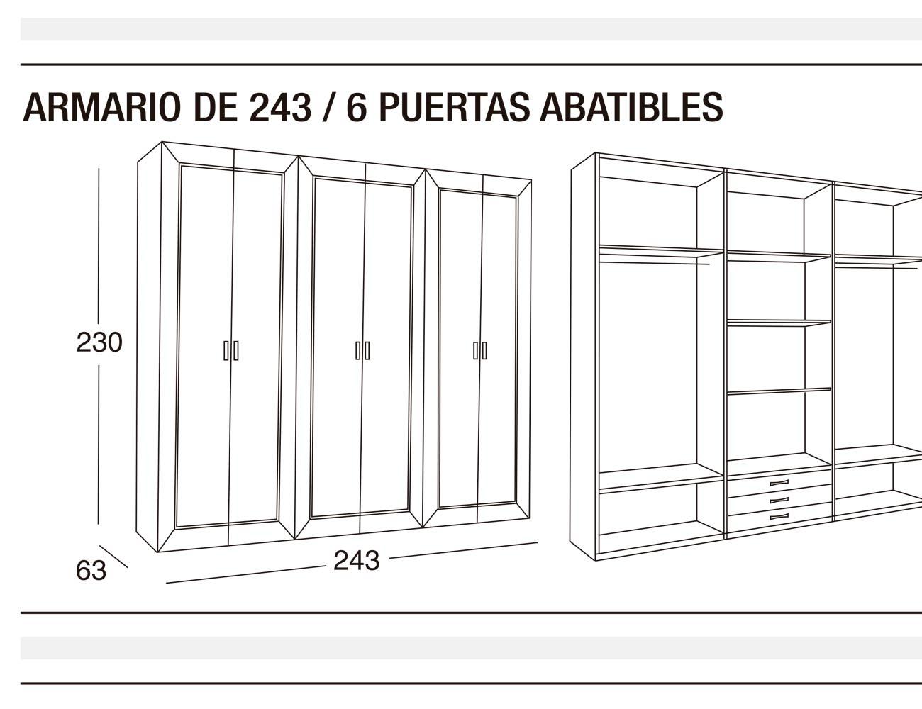 Armario 243 p abatibles