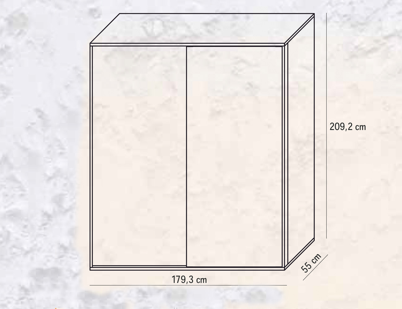 Armario 2 puertas correderas 179