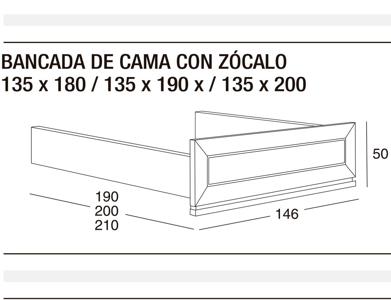 Bancada cama z 135x180 135x190 135x2003