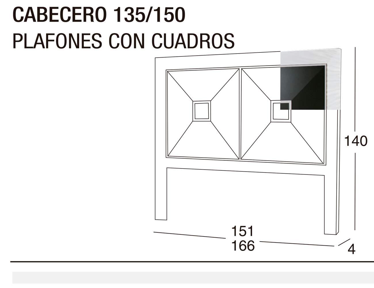 Cabecero 135x150 plafon cuadros