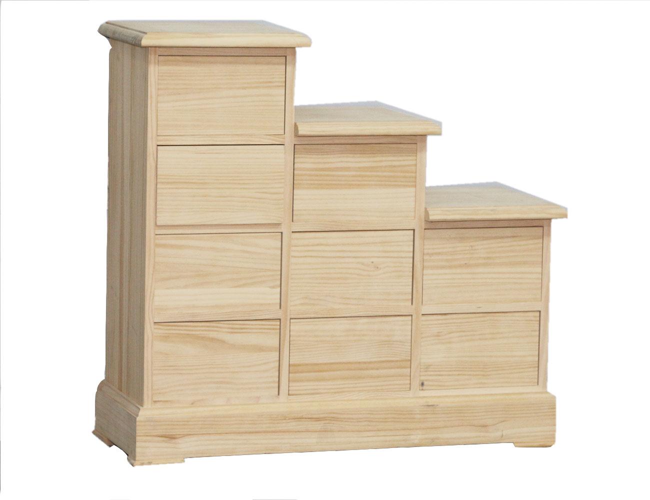 mueble escalera 9 cajones en madera 18598 factory del
