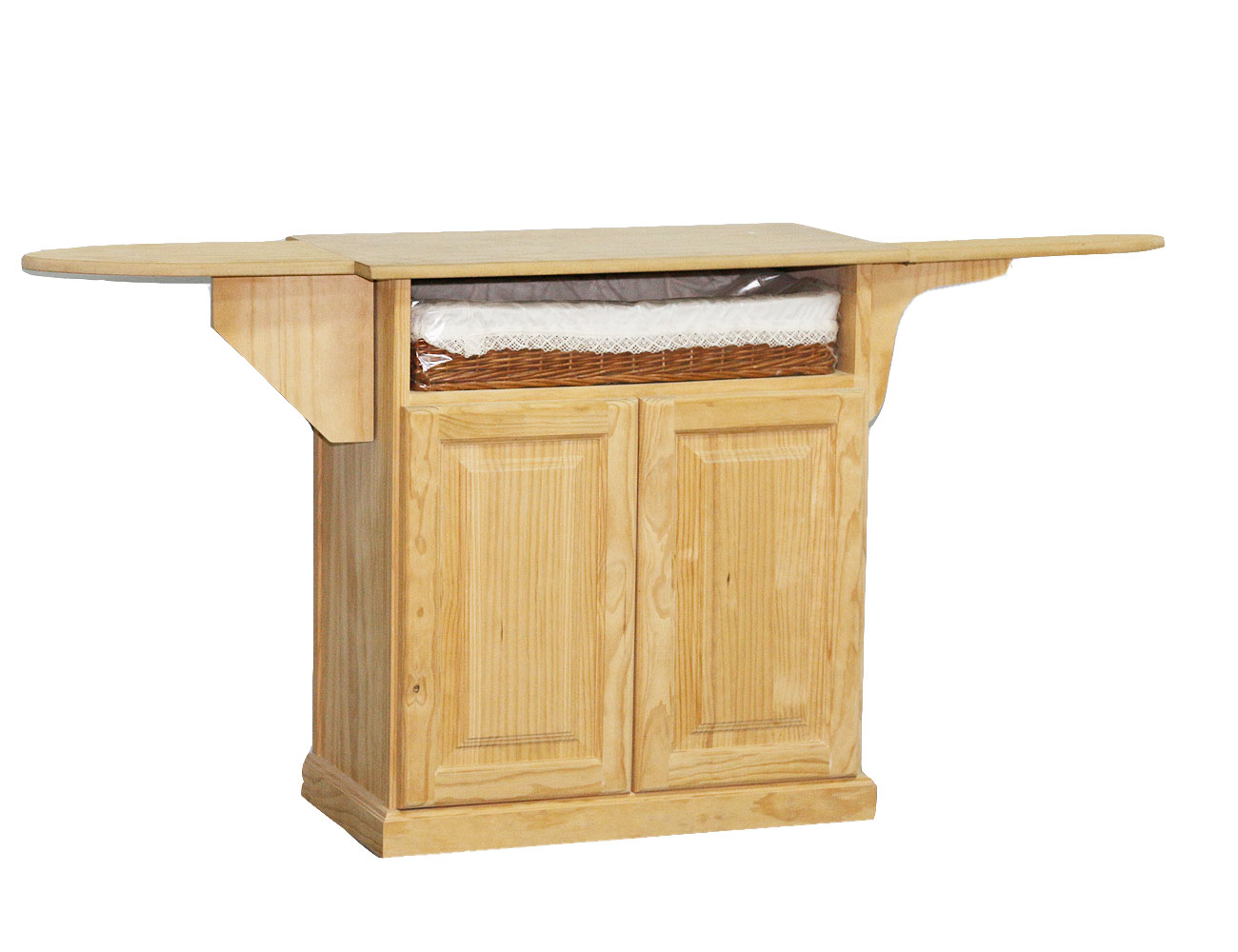 Mueble modular 1 hueco y 1 cesto mimbre en madera 18601 for Tu factory del mueble