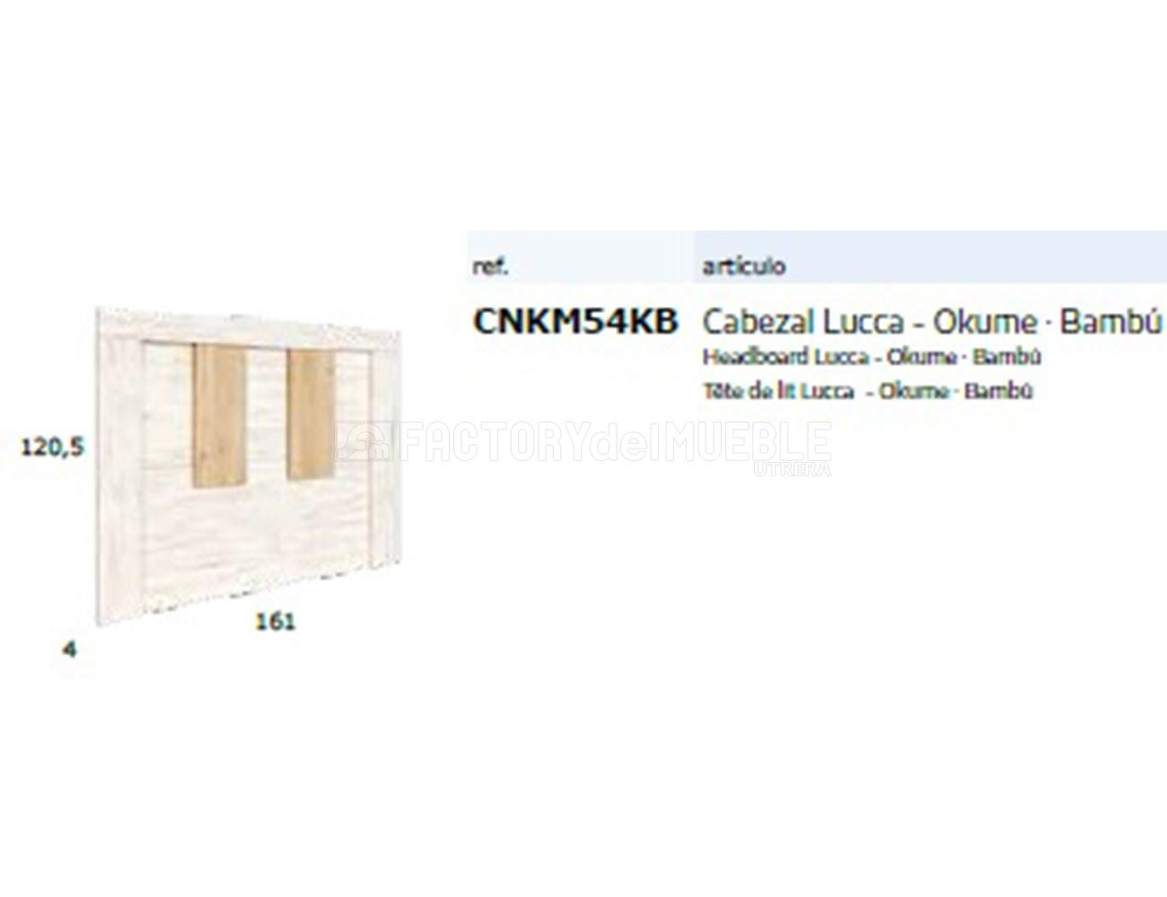 Cnkm54kb cabezal lucca