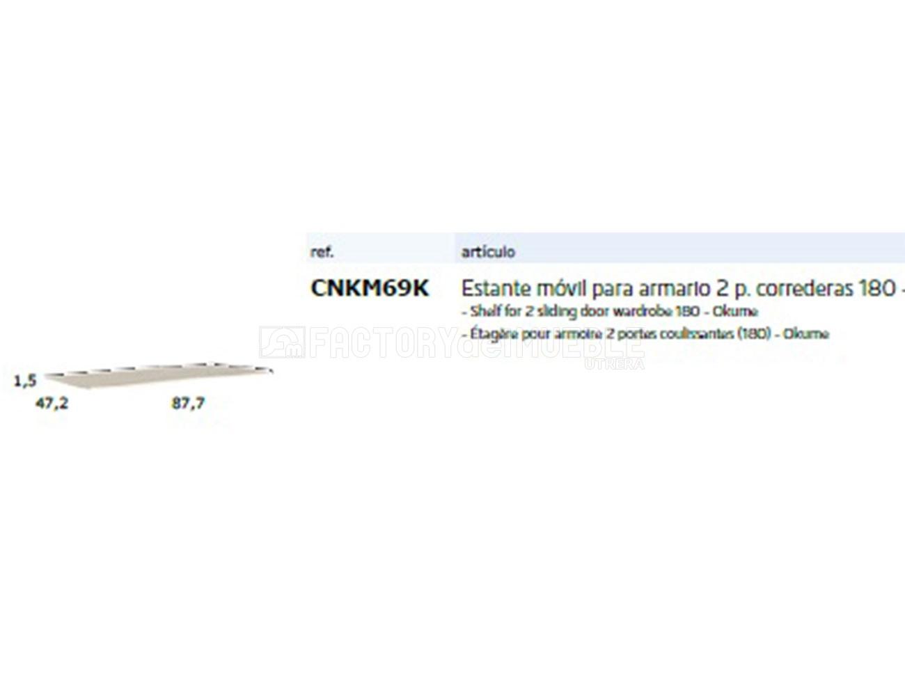 Cnkm69k estante movil para armario 2p correderas 180
