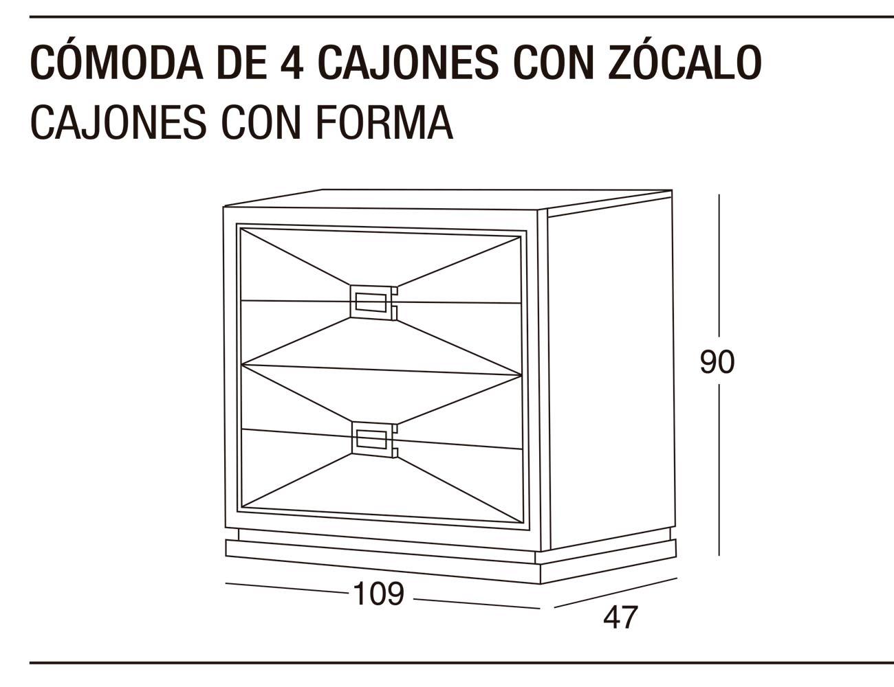 Comoda 4c z forma 109x90x47