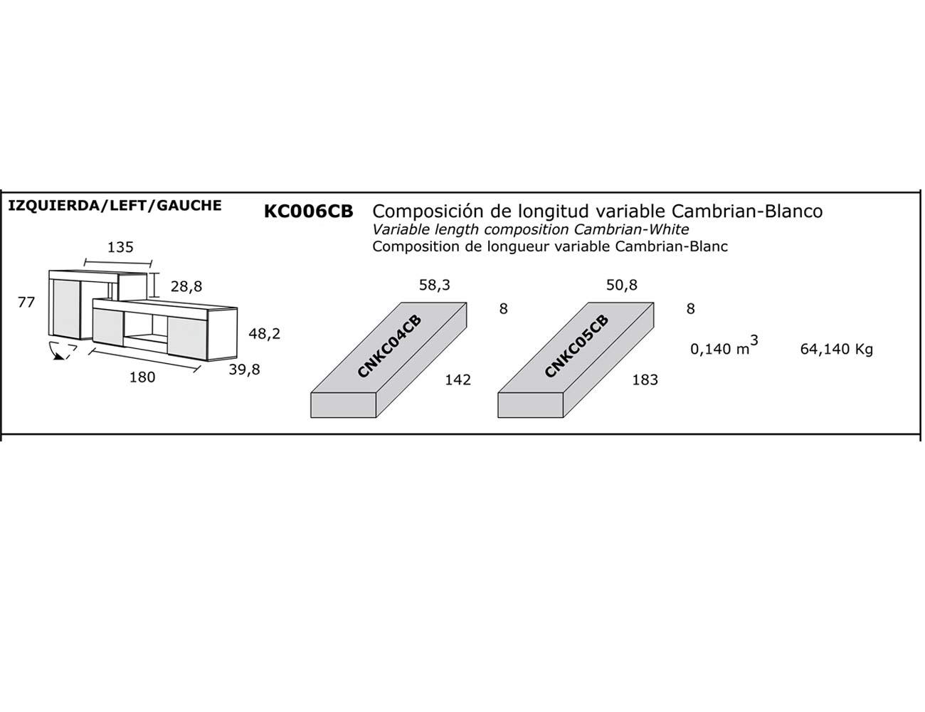 Composicion longitud variable
