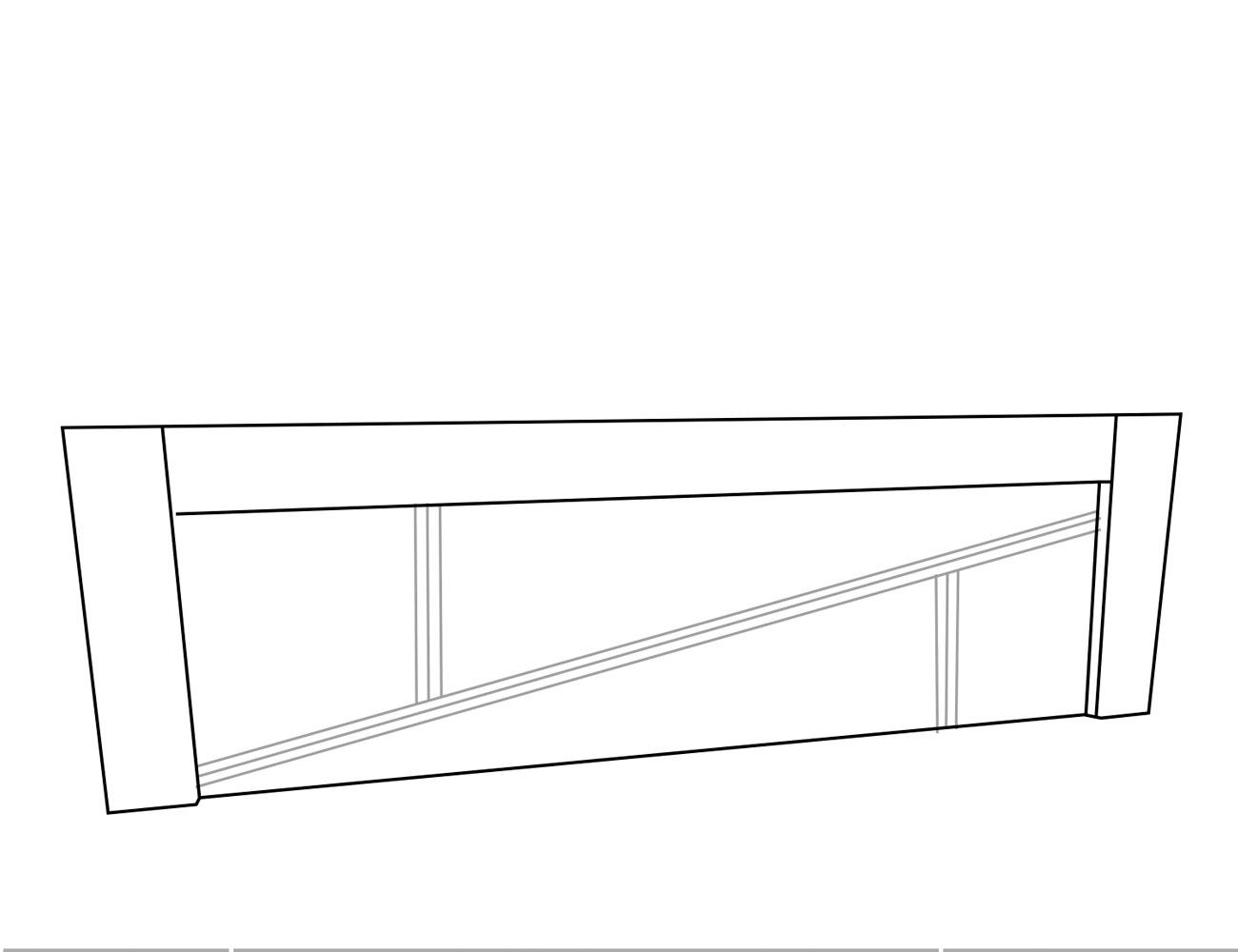 Cabecero 3 líneas 240x4x60 cm