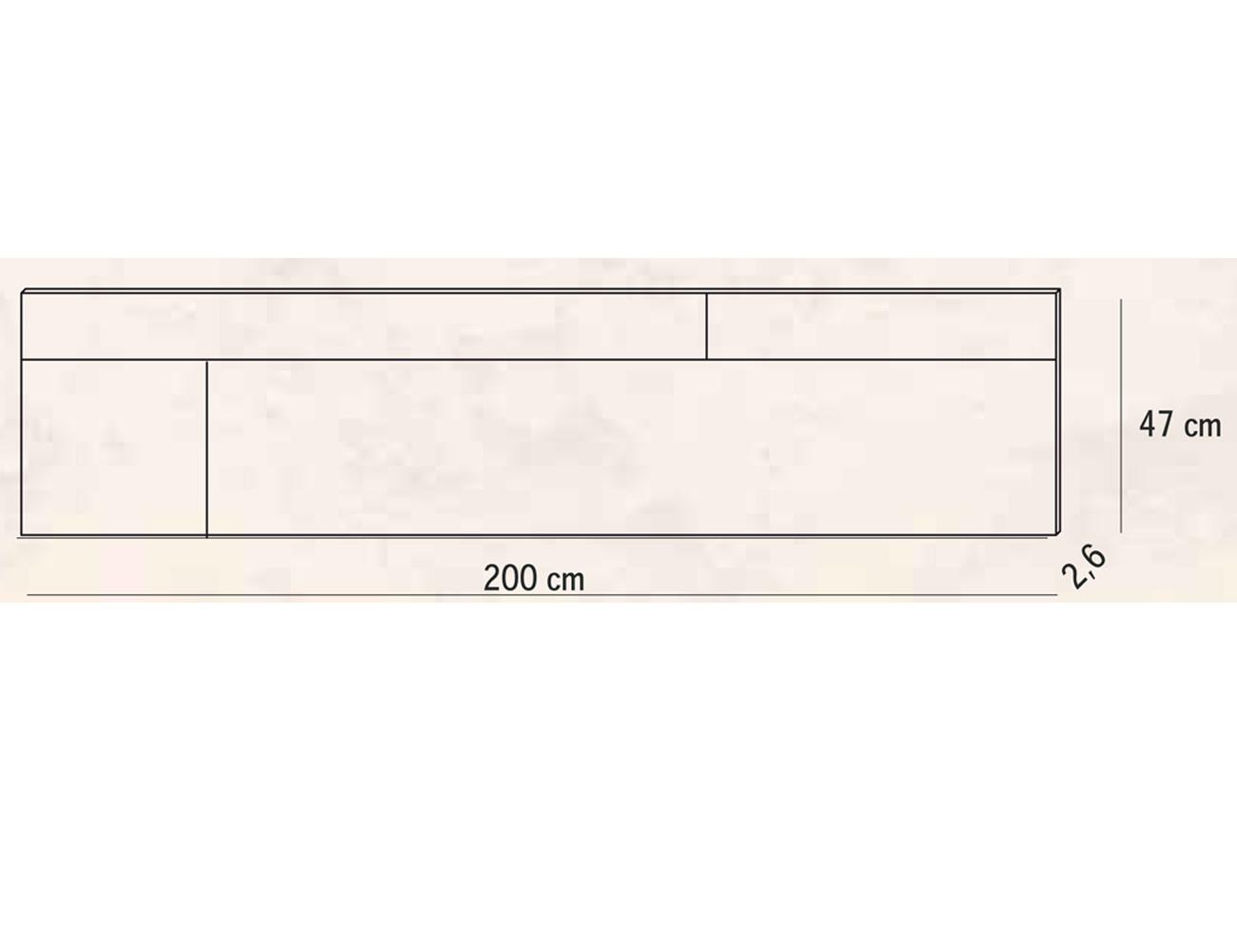 Cabecero matrimonio 200 cm turia