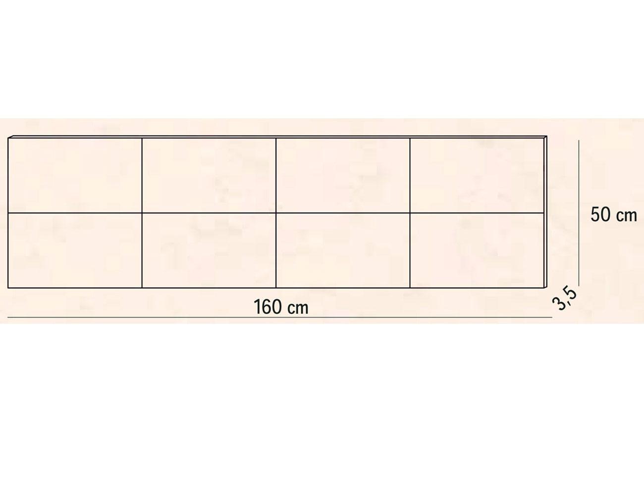 Cabecero matrimonio tapizado 160 cm pu deva