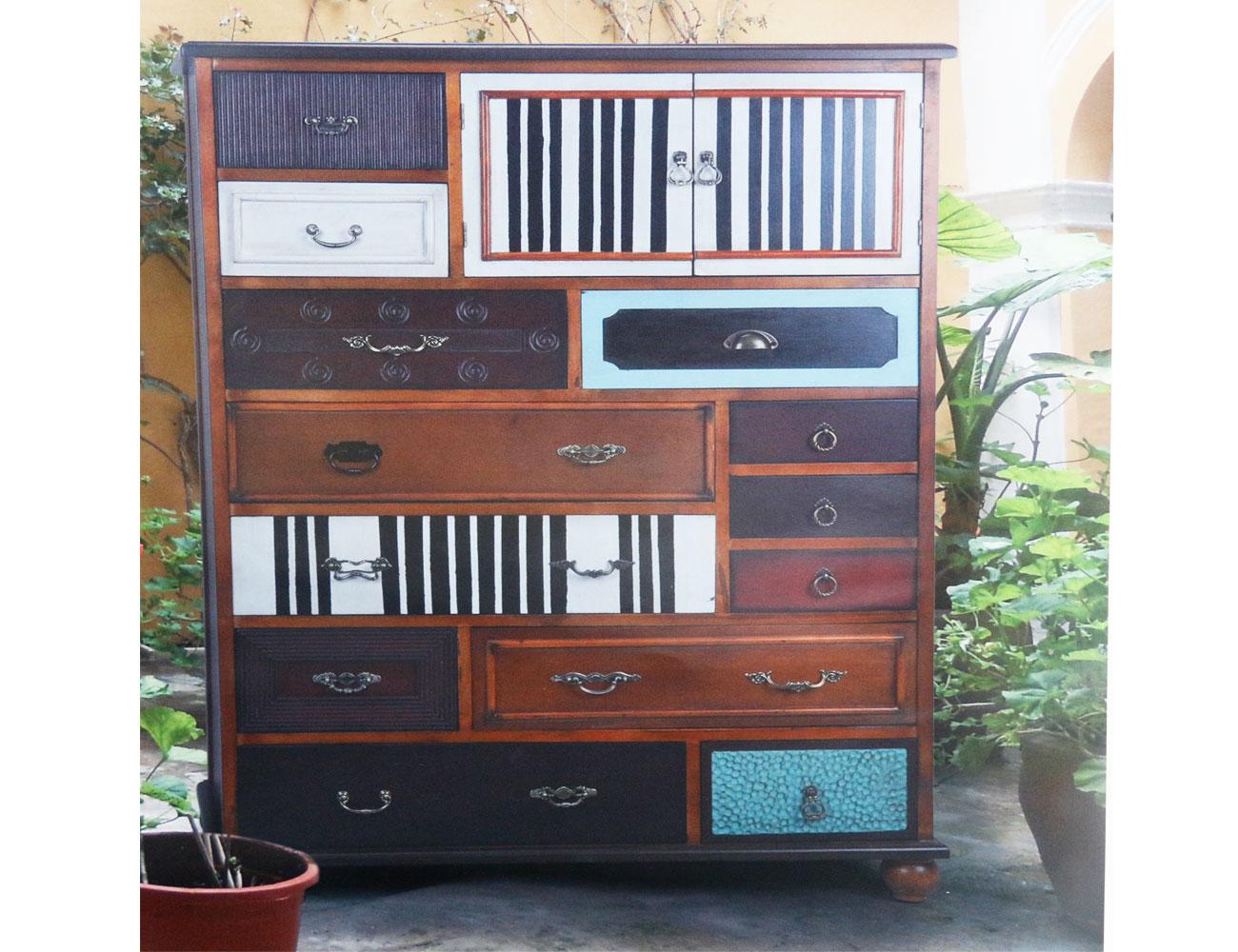 Mueble alto de dise o para sal n con estilo vintage 17274 for Muebles de salon estilo vintage