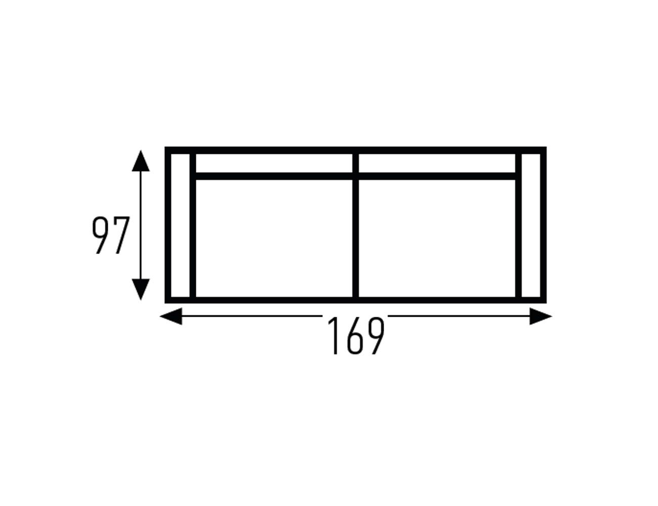 Croquis sofa 3 plaza 1694