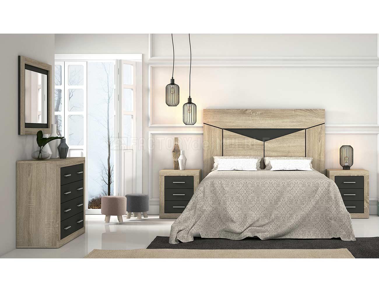 Dormitorio matrimonio cambria grafito 371