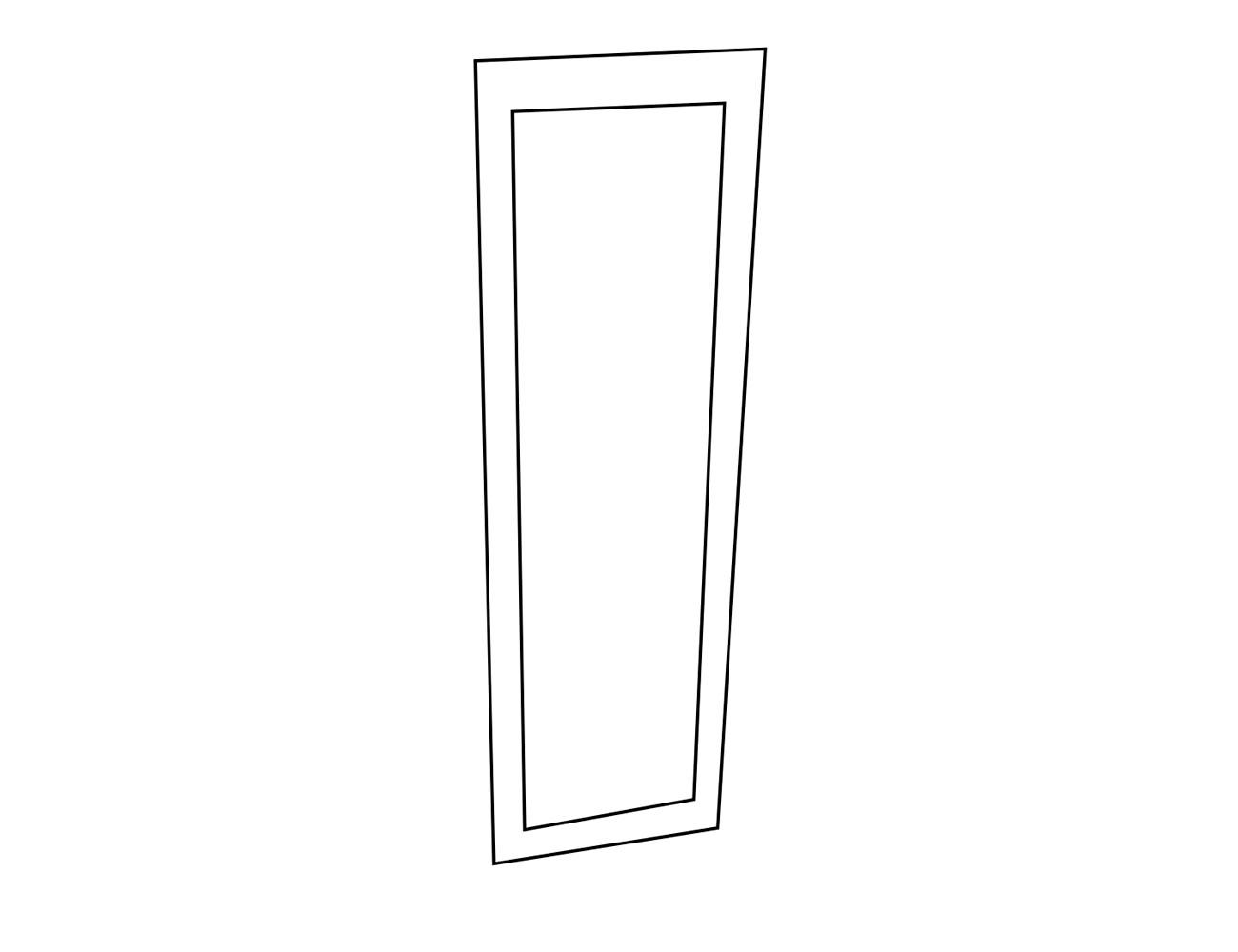 Espejo vestidor 48x2x200 cm