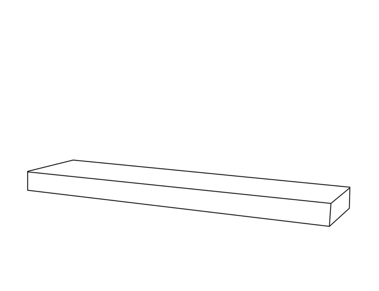 Estante con herrajes 120x8x25 cm