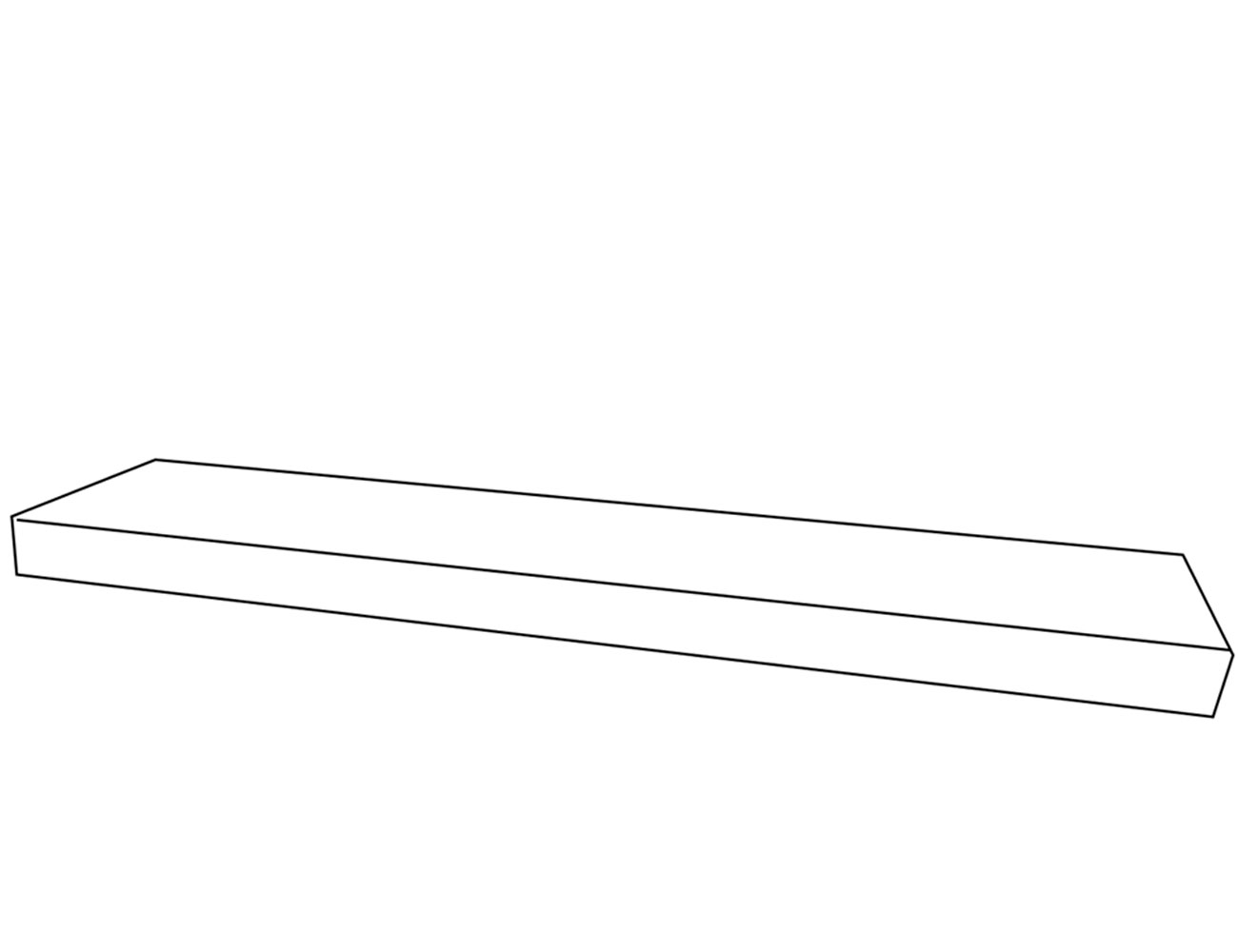 Estante con herrajes 160x8x25 cm