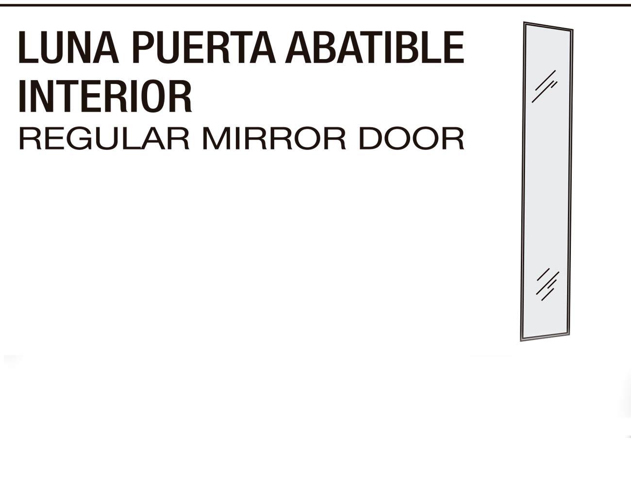 Luna puerta abatible interior