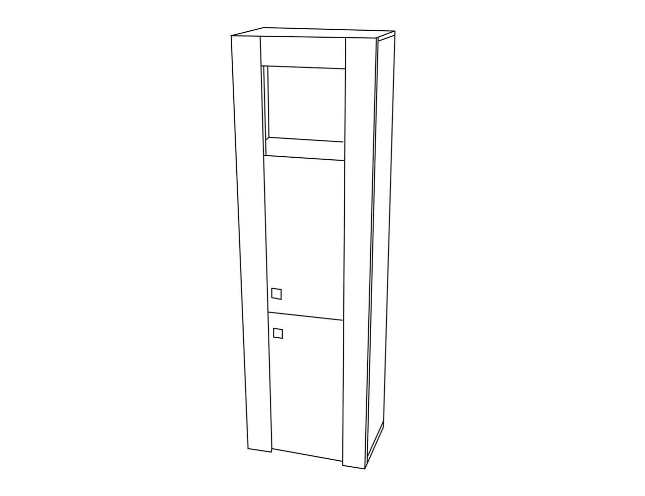 Módulo 1 p madera+hueco 60x37x198 cm