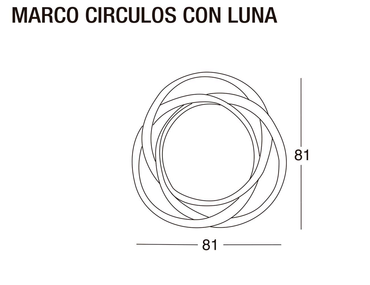 Marco circulos luna 81x81