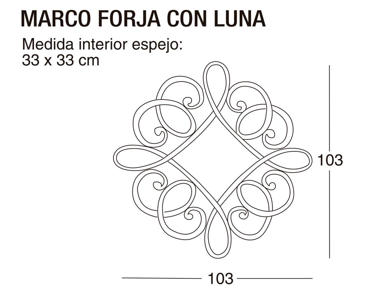 Marco forja luna 103x103