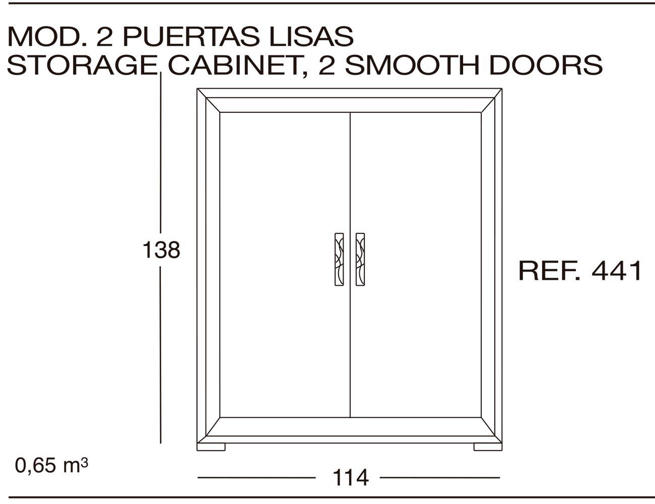 Modulo 2 puertas lisas 441
