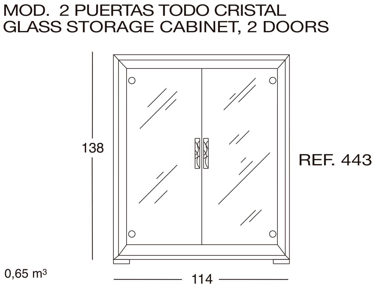 Modulo 2 puertas todo cristal 443