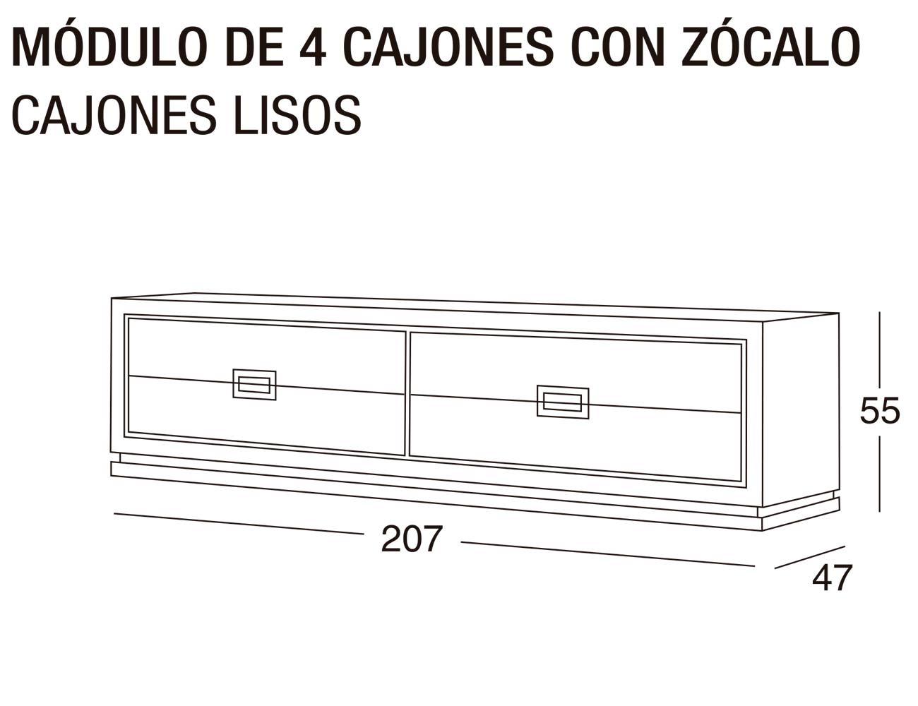 Modulo 4c z lisos 207x55x47