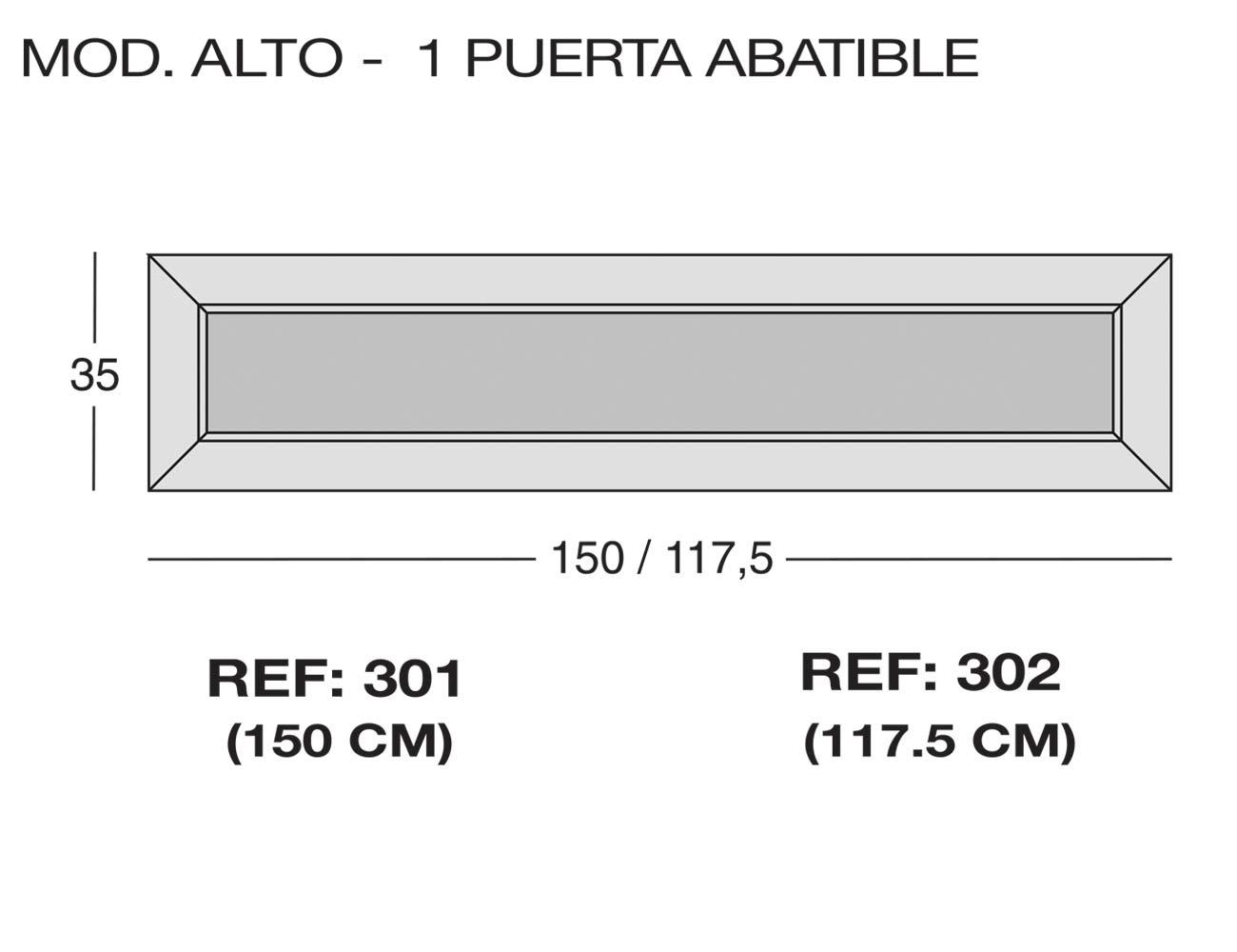 Modulo alto 1p puerta abatible 301 302