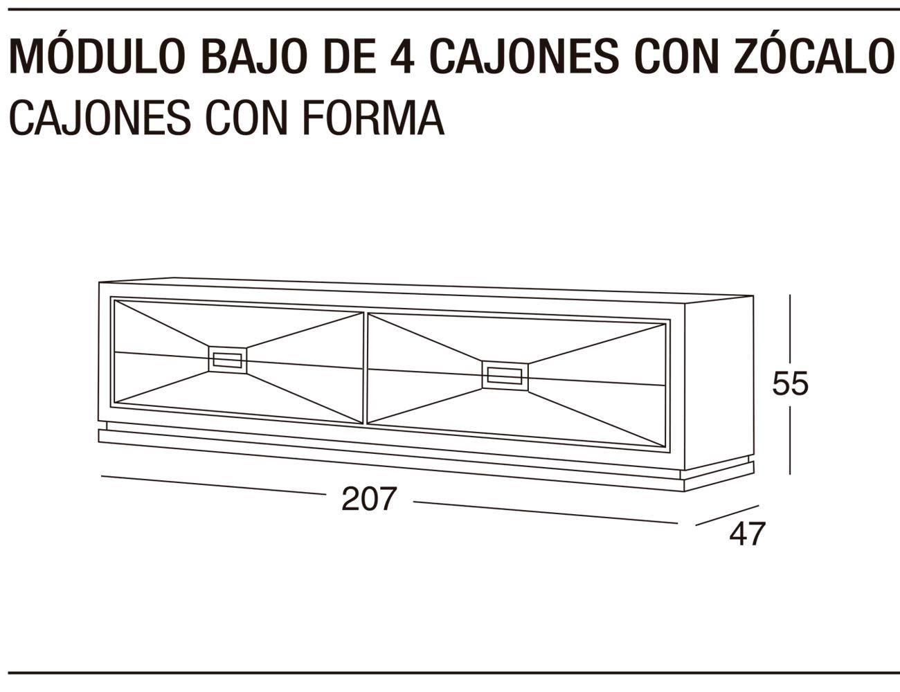 Modulo bajo 4c z forma 207x55x47