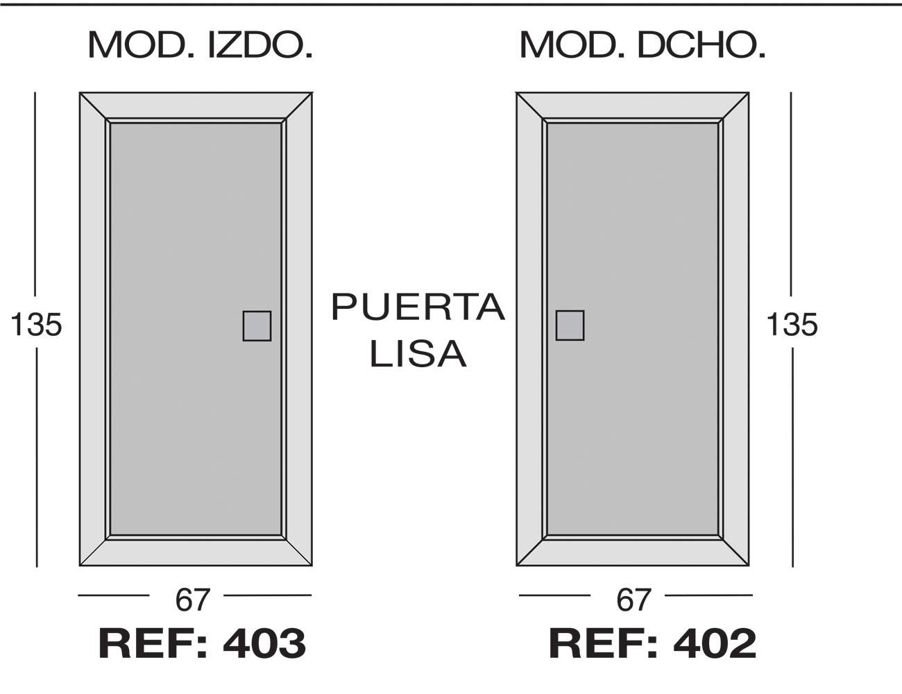 Modulo izdo 403 dcho 402