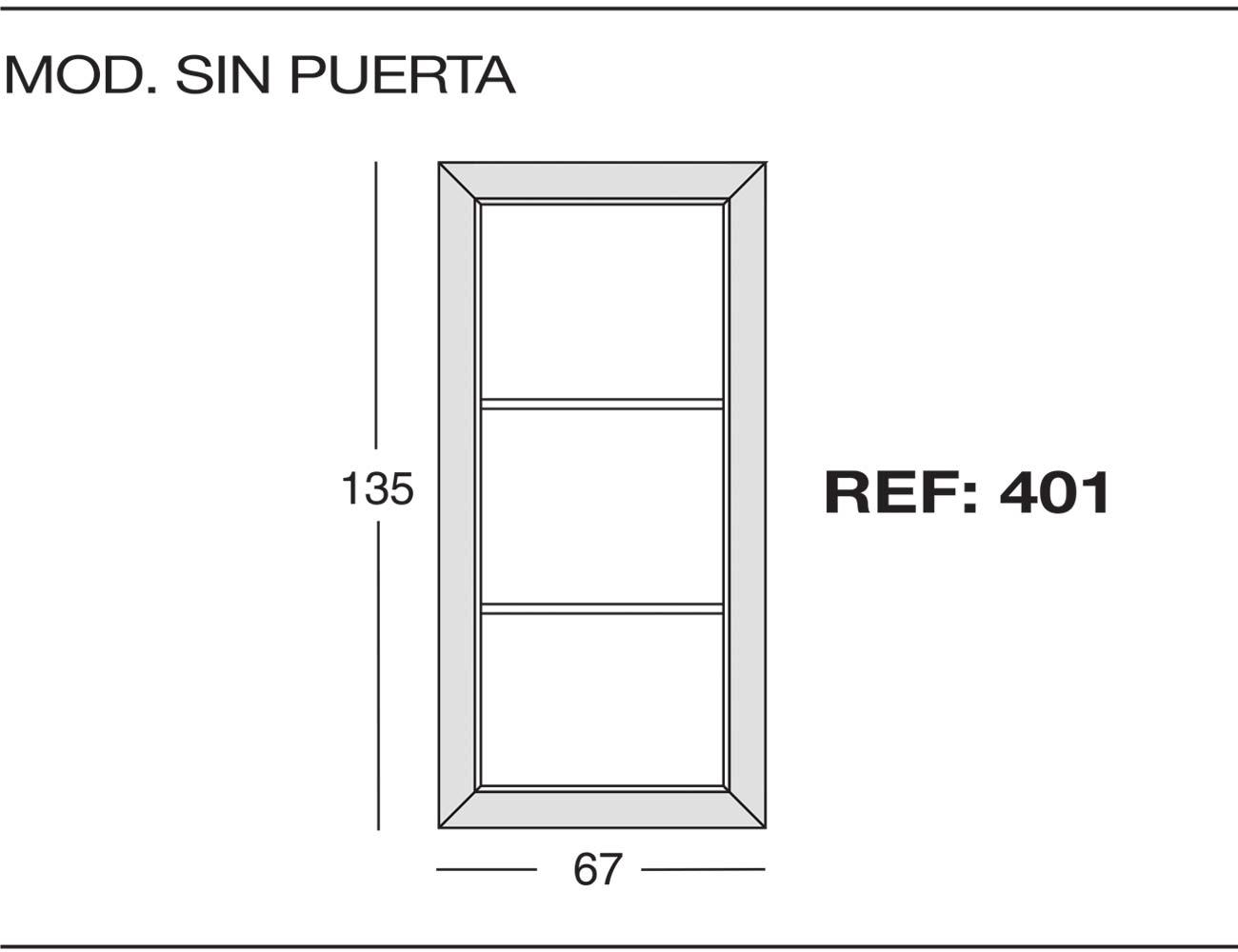 Modulo sin puerta 401