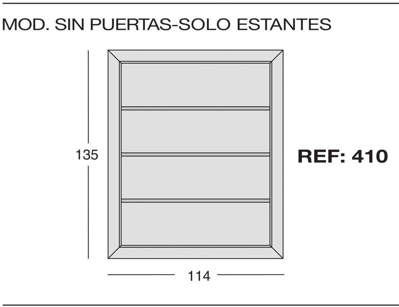 Modulo sin puerta 410
