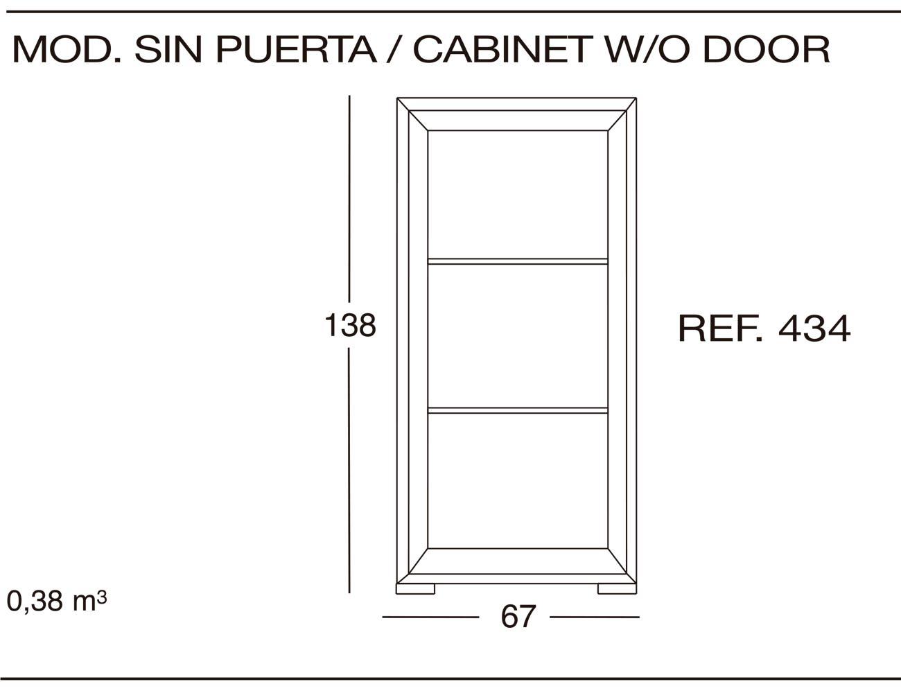 Modulo sin puerta 434