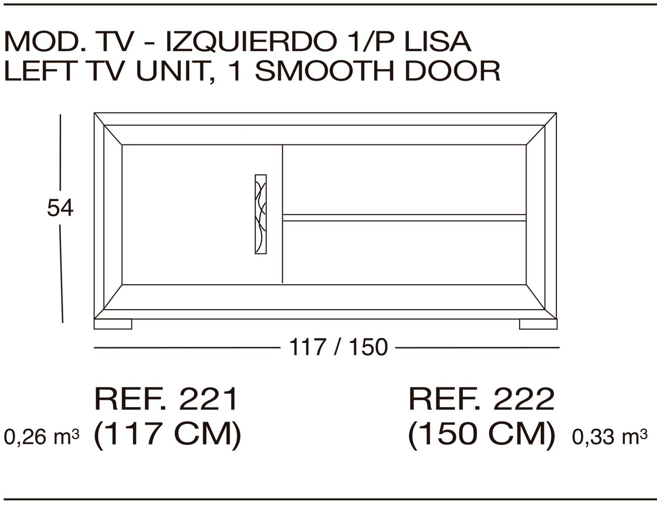 Modulo tv 222