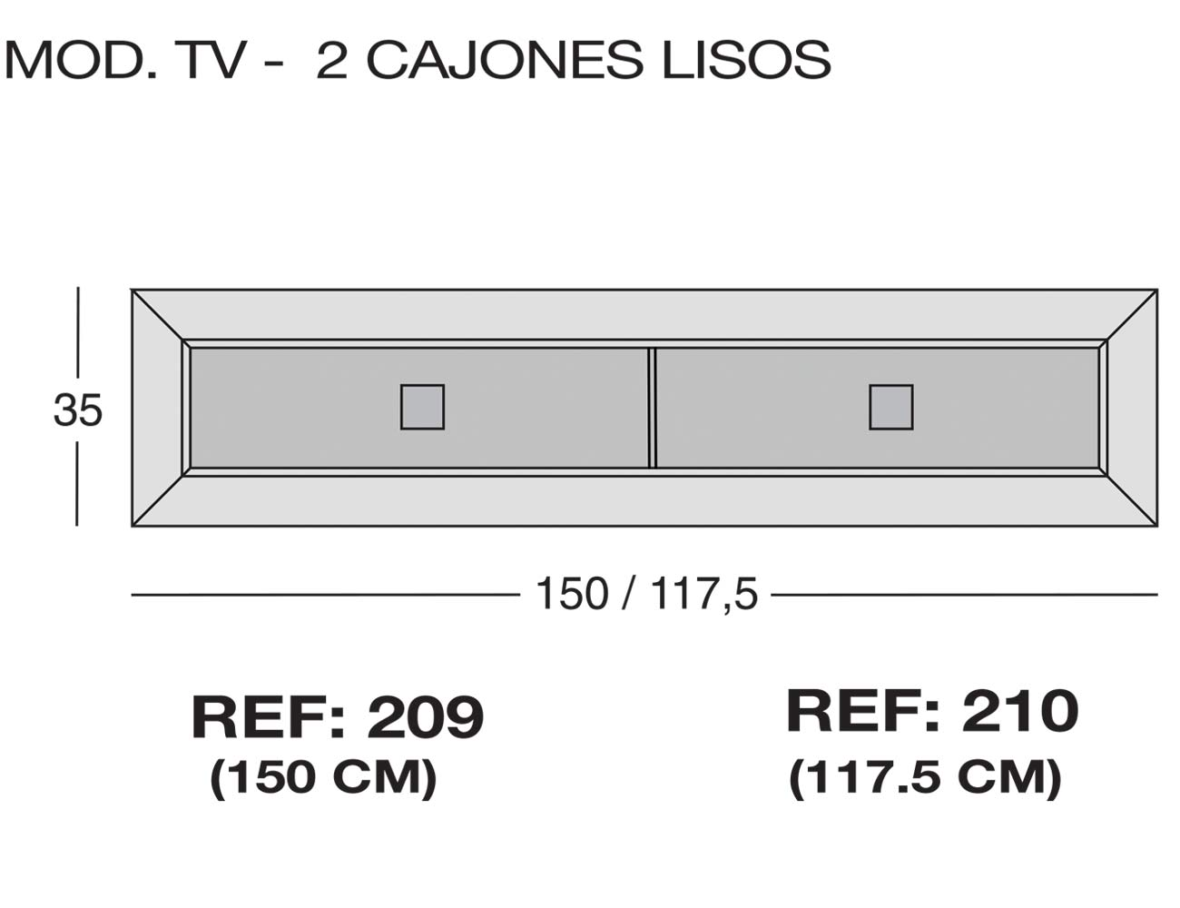 Modulo tv 2c lisos 209 210