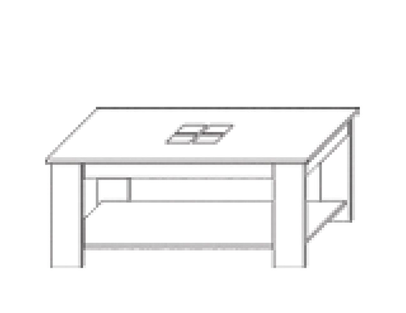 Mesa centro 100x55x45 cm