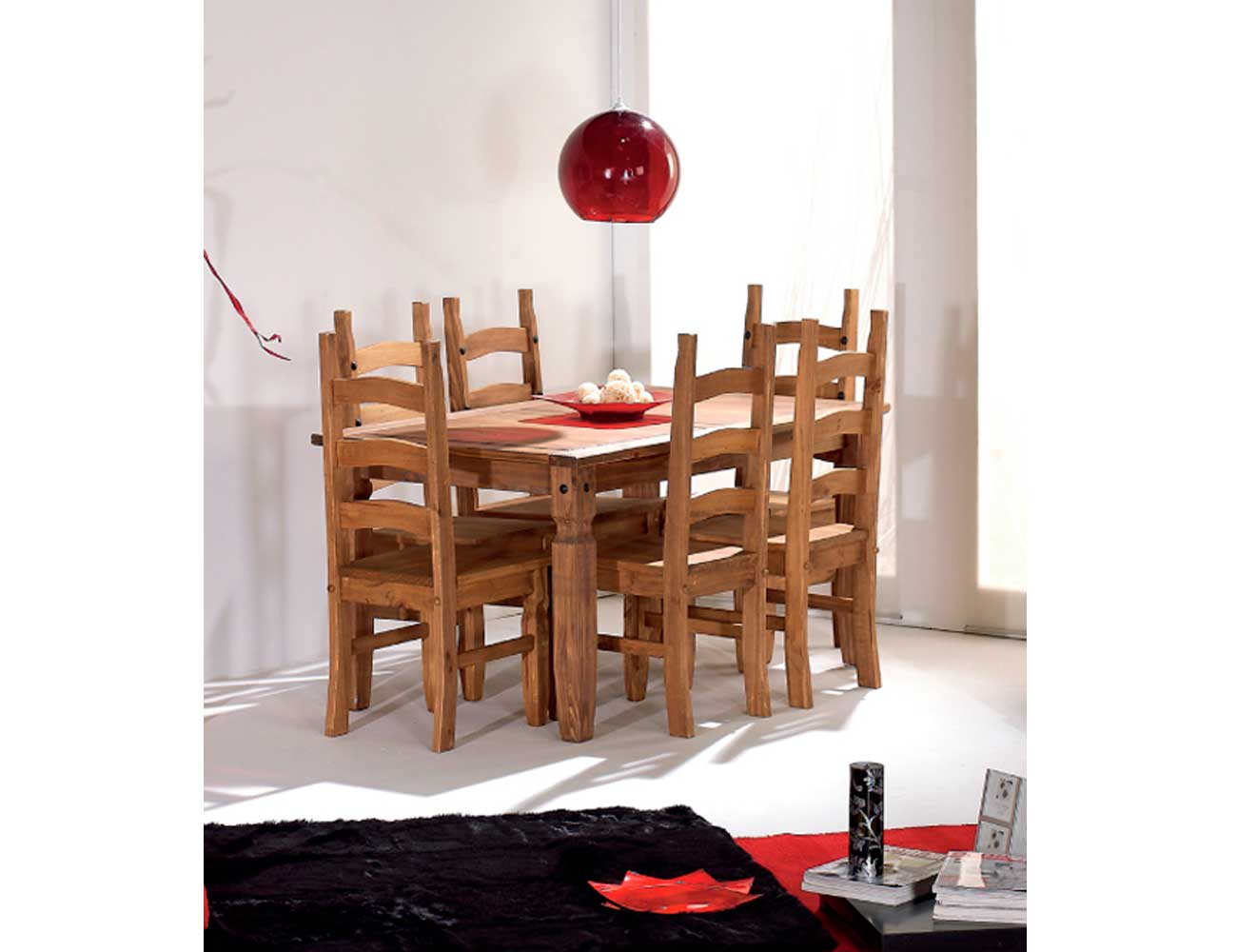 Mesa comedor 6 personas madera1