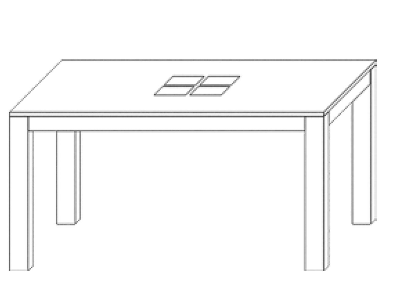 Mesa extensible comedor 140 185x90x75 cm