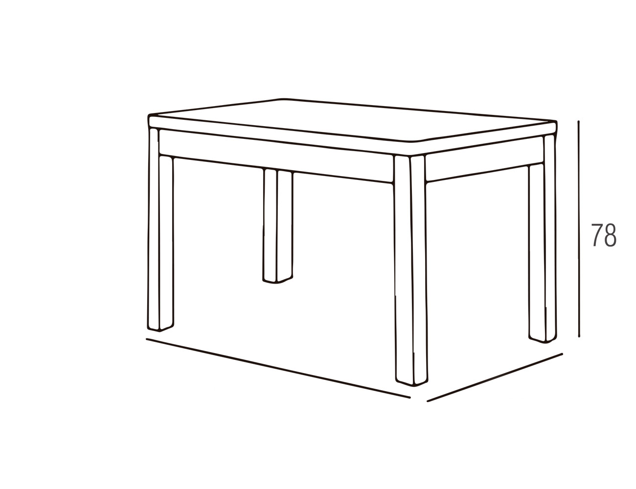 Mesa fija 120x80 praga