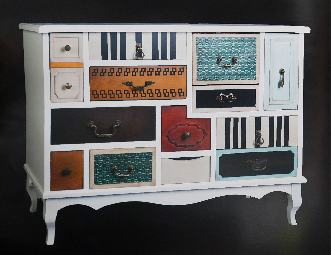 Muebles recibidor de dise o y con colores vintage 17275 - Muebles recibidores de diseno ...