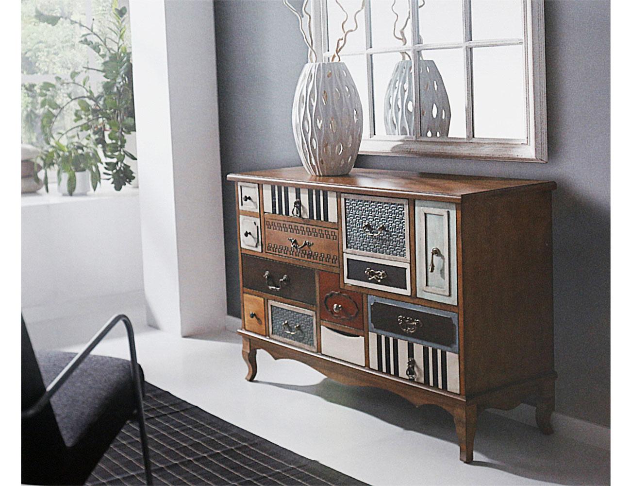 Muebles recibidor de dise o y con colores vintage 17275 - Muebles de entrada pequenos ...