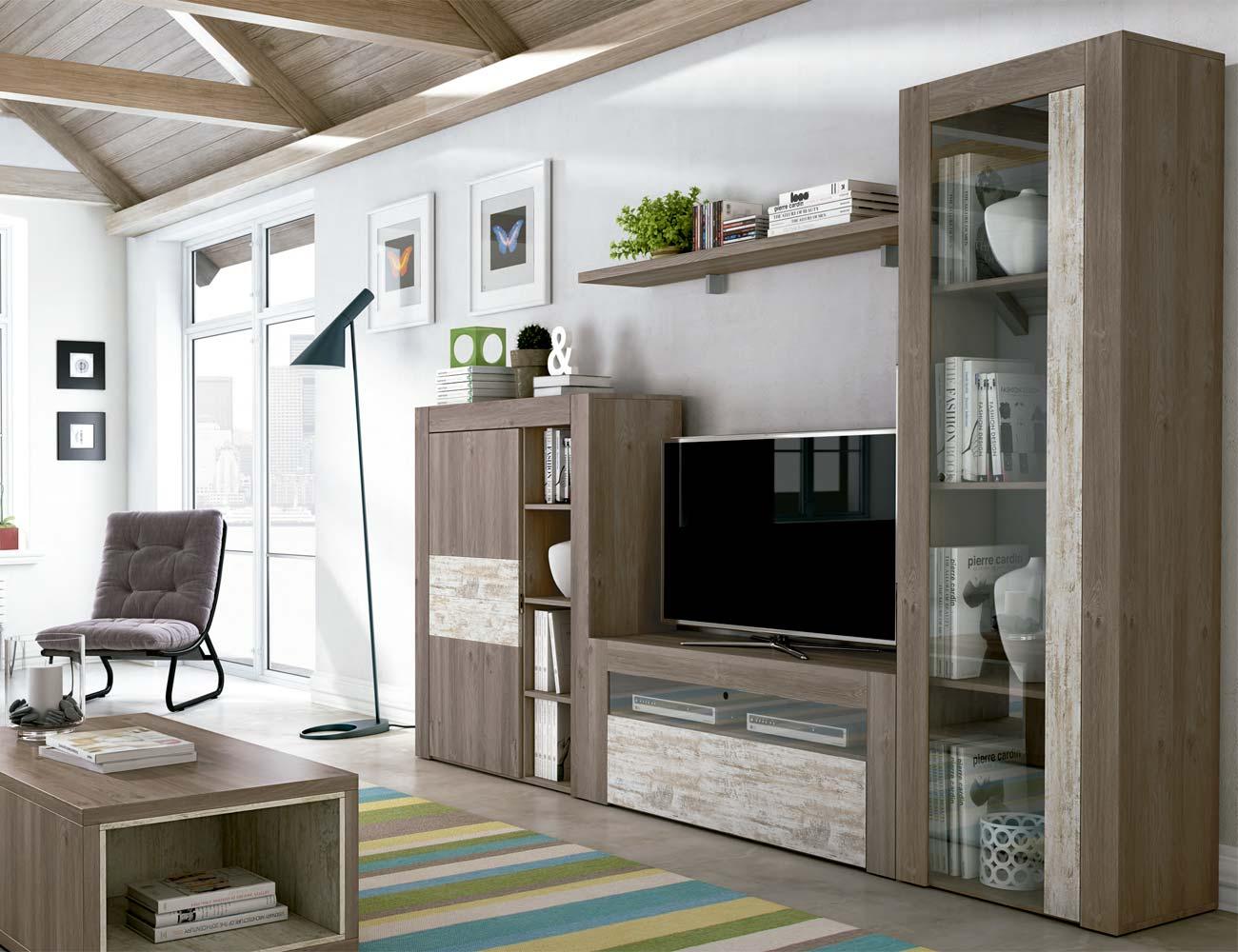 Mueble salon comedor estilo moderno color natural nature 09
