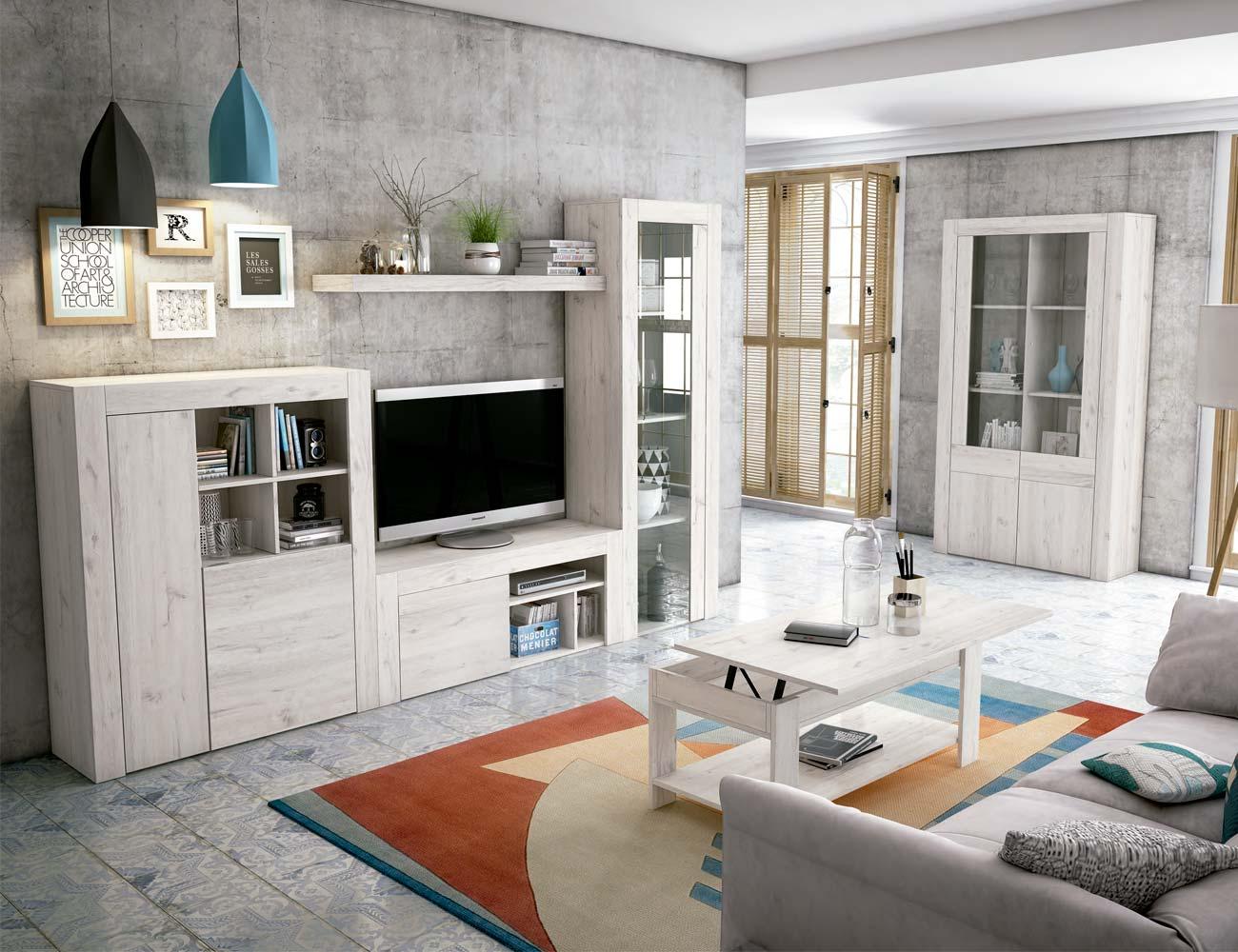 Mueble salon comedor estilo moderno color natural nature 101