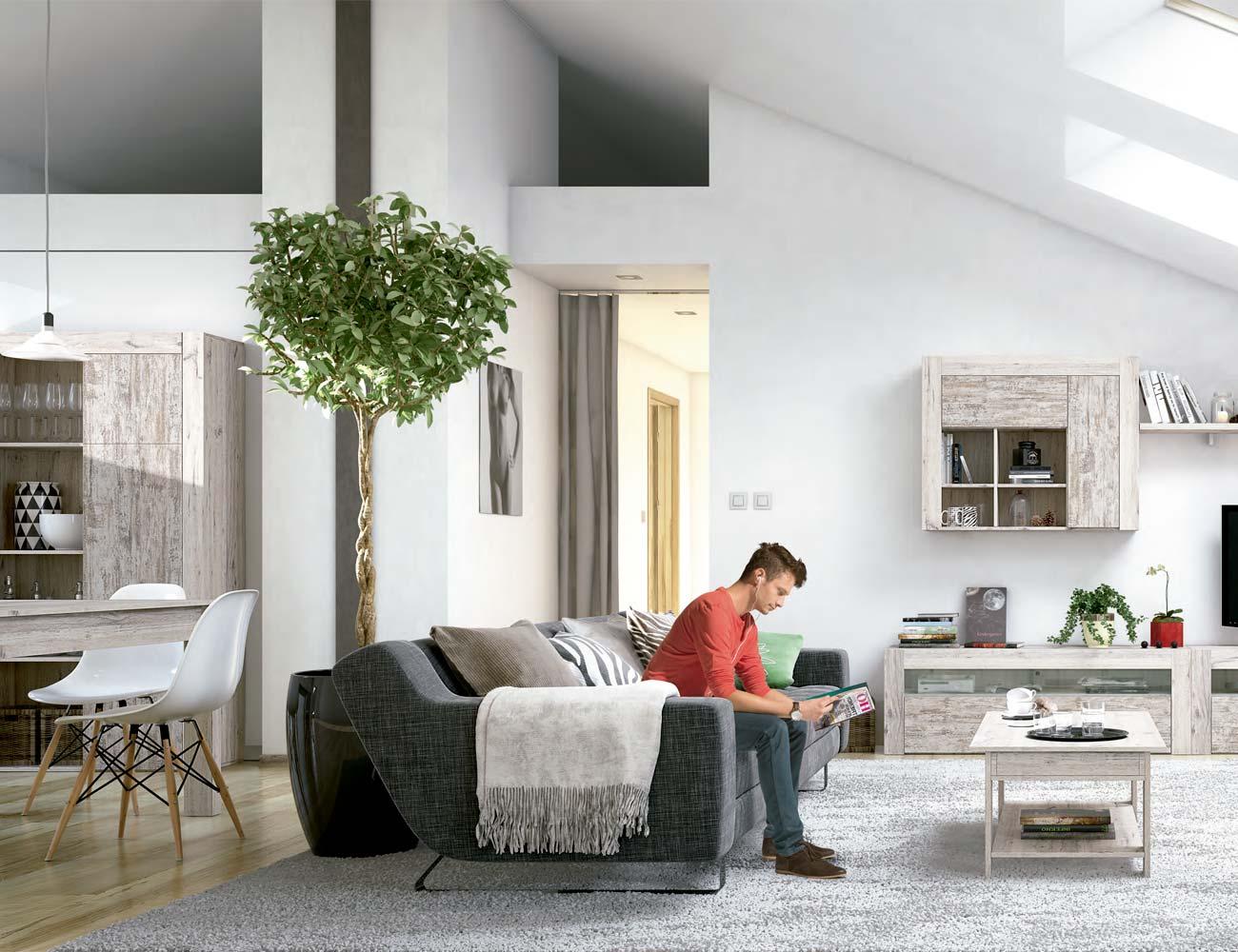 Mueble salon comedor estilo moderno color natural nature 12